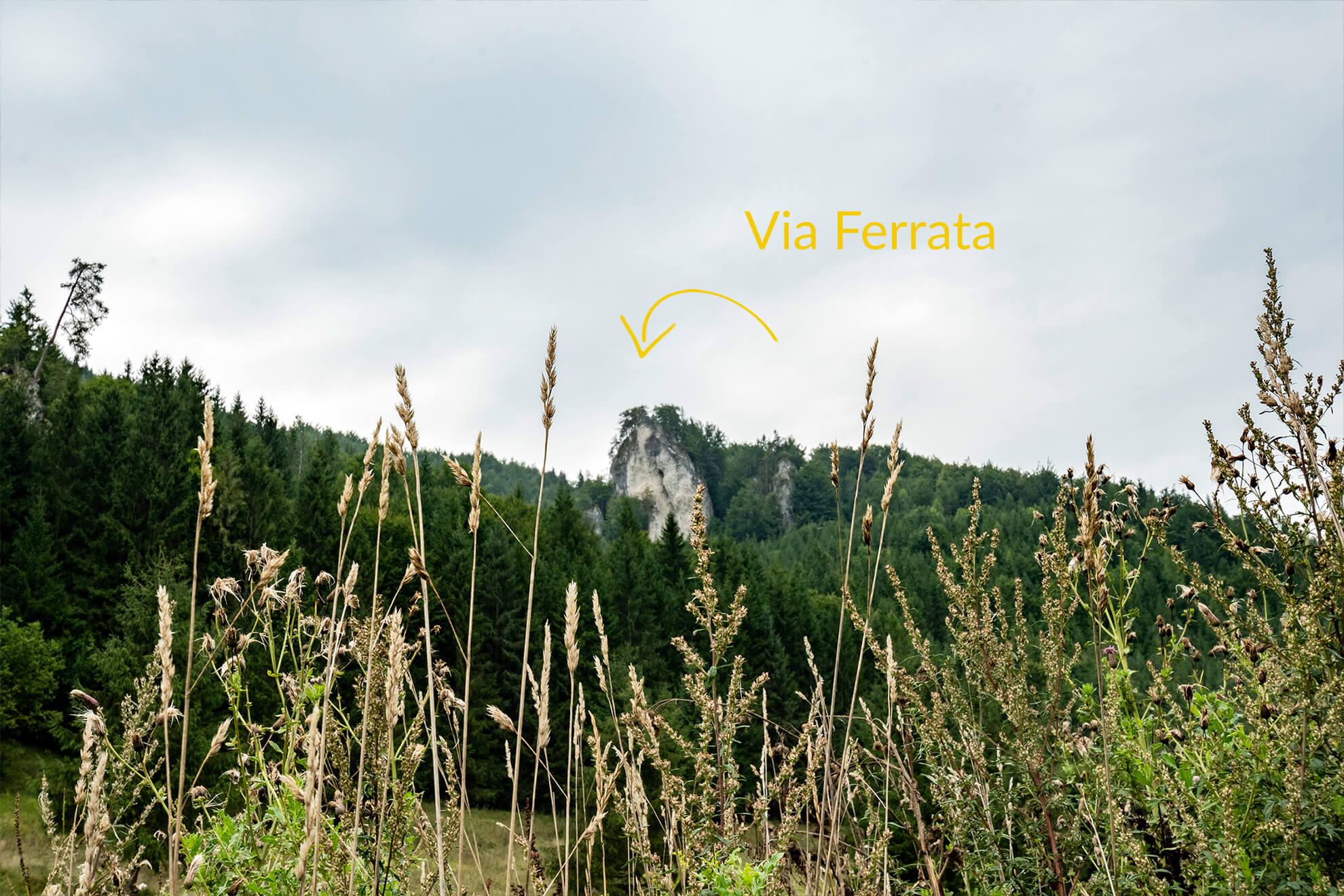 Via Ferrata Dwie wieże Słowacja
